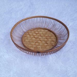 Vintage Wicker Basket Bowl